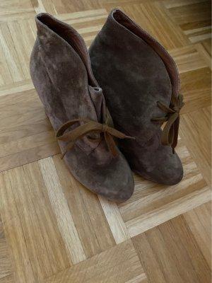 Belmondo Velours-Stiefelette (braun) Size 38