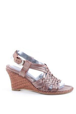 Belmondo Wedges Sandaletten braun Casual-Look