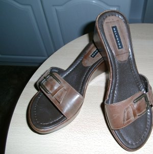 Belmondo Platform Sandals brown leather