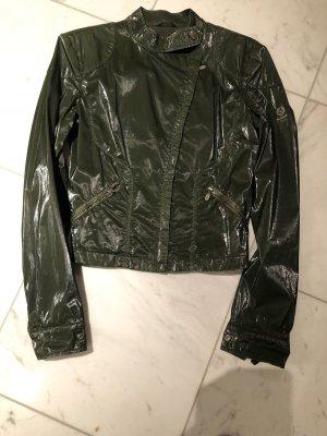 Belstaff Biker Jacket dark green cotton