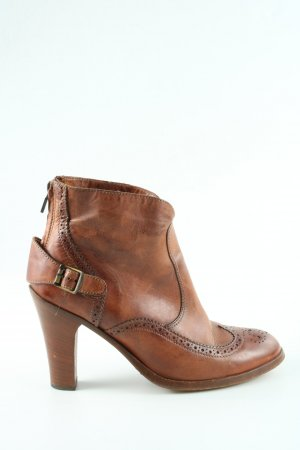 Belstaff Booties hellorange-bronzefarben Business-Look
