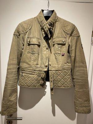 Belstaff Biker Jacket grey brown cotton