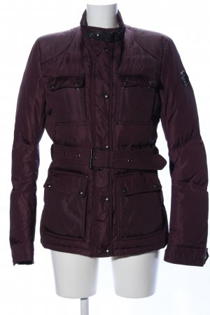 Belstaff Down Jacket lilac quilting pattern casual look