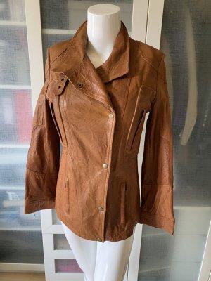 Belstaff Leather Jacket cognac-coloured leather