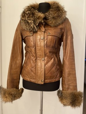Belstaff Leather Jacket brown leather