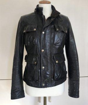 Belstaff Veste en cuir noir-brun noir cuir