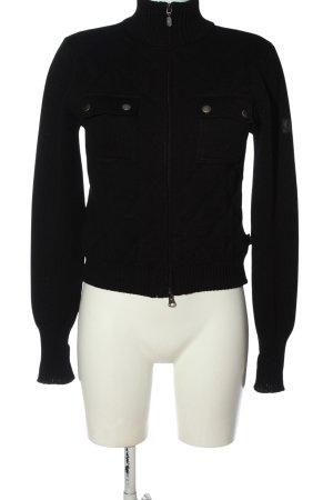 Belstaff Veste tricotée en grosses mailles noir élégant