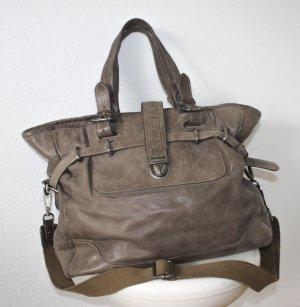 Belstaff Shoulder Bag grey brown leather