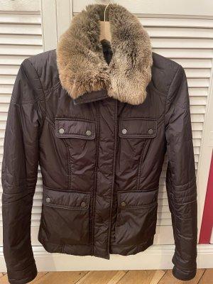 Belstaff Futrzana kurtka ciemnobrązowy