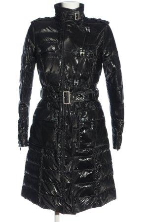 Belstaff Długa kurtka czarny Pikowany wzór Ekstrawagancki styl
