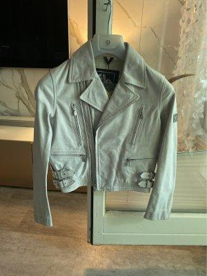 Belstaff Leather Jacket light grey