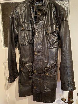 Belstaff Skórzana kurtka ciemnobrązowy-czarno-brązowy