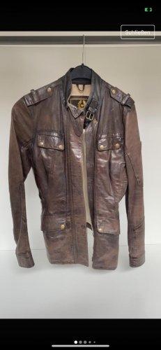 Belstaff Leather Jacket dark brown