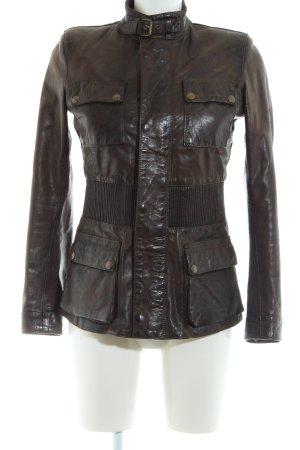 Belstaff Leather Jacket bronze-colored casual look