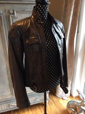 Belstaff Leather Jacket dark brown leather