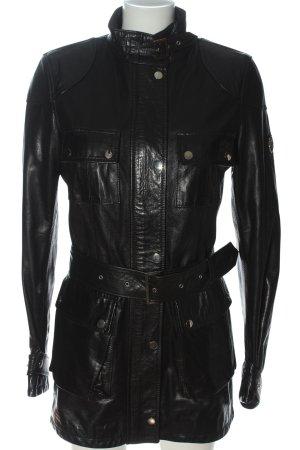 Belstaff Leather Coat black casual look