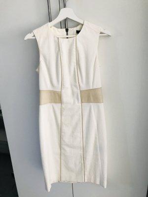 Belstaff Leinen Kleid mit Leder Applikationen