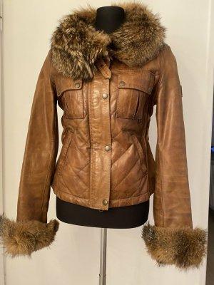 Belstaff Leather Jacket multicolored leather