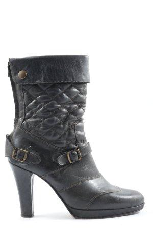 Belstaff Stivaletto con zip nero motivo trapuntato stile casual