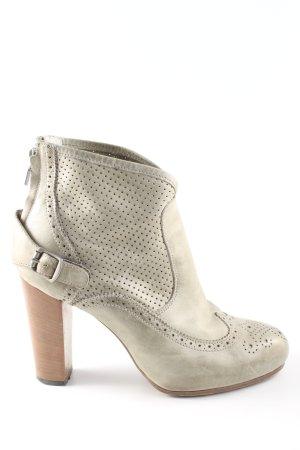 Belstaff Zipper Booties natural white elegant