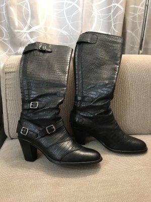 Belstaff Stiefel 40 schwarz Lederstiefel