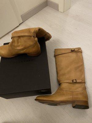 Belstaff Wide Calf Boots beige-camel