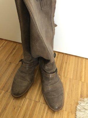 Belstaff Biker Boots grey brown