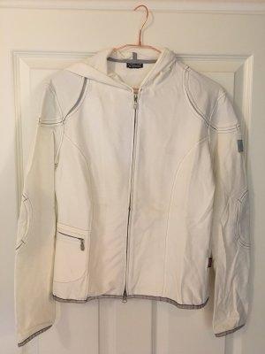 Belstaff Sweat-Jacke mit Kapuze in off-White