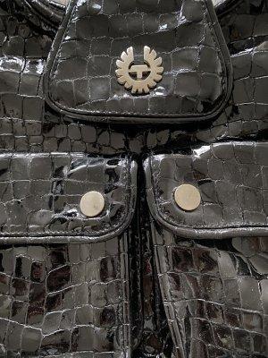 Belstaff Tasche Lack schwarz
