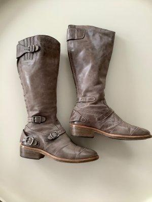 Belstaff Biker Boots grey brown-taupe