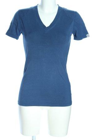 Belstaff V-hals shirt blauw casual uitstraling