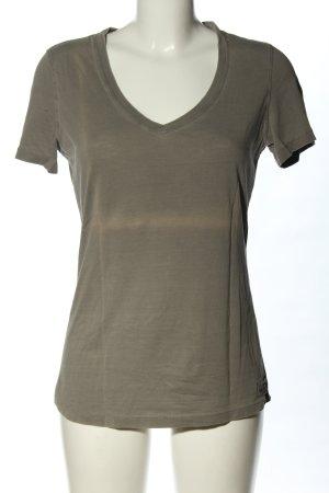 Belstaff V-Ausschnitt-Shirt khaki Motivdruck Casual-Look