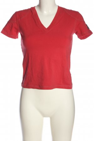 Belstaff V-Neck Shirt themed print casual look