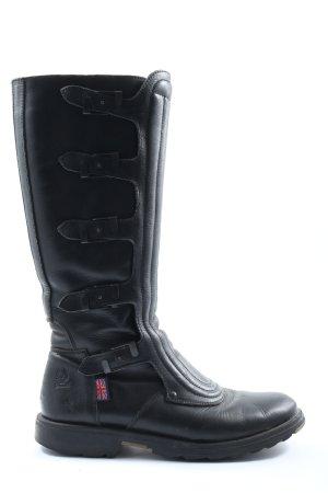 Belstaff Wide Calf Boots black casual look