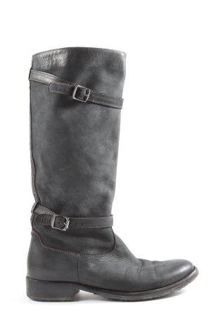Belstaff Wide Calf Boots light grey casual look