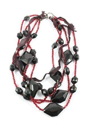 Ben-Amun Collier rood-zwart elegant