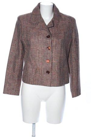 Ben Barton Krótka kurtka brązowy Siateczkowy wzór W stylu biznesowym