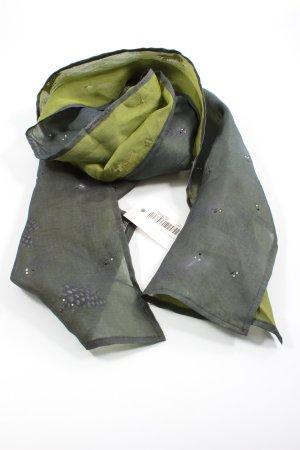 Ben Barton Jedwabny szal khaki-zielony Elegancki
