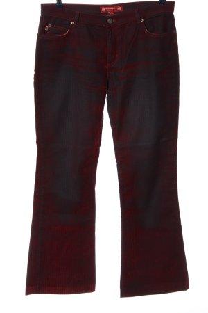 ben harpers Pantalón de campana rojo-negro degradado de color look casual