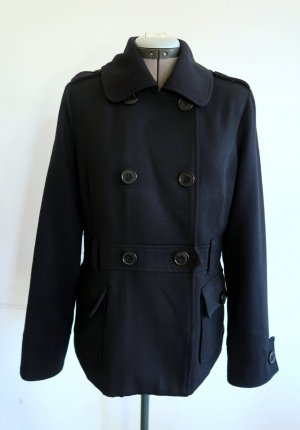 Ben Sherman Pea Jacket black wool