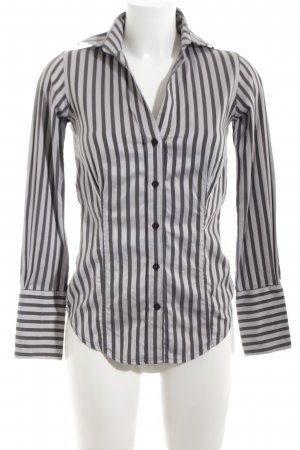 Ben Sherman Langarmhemd schwarz-silberfarben Streifenmuster Business-Look