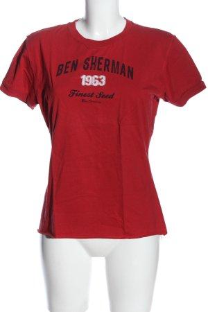 Ben Sherman Print Shirt red printed lettering casual look