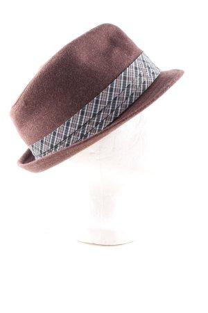 Ben Sherman Sombrero de lana estampado a cuadros elegante