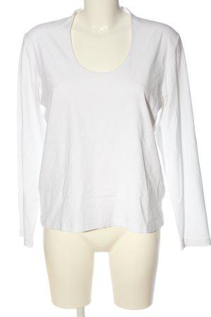 Benbarton Blouse à manches longues blanc style décontracté