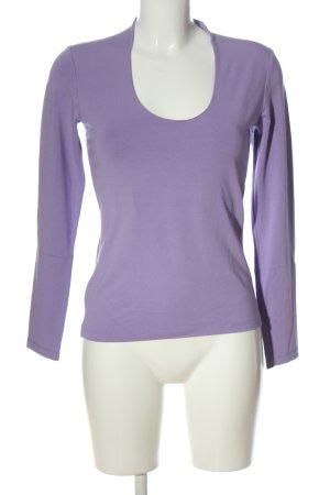 Benbarton Top à manches longues violet style décontracté