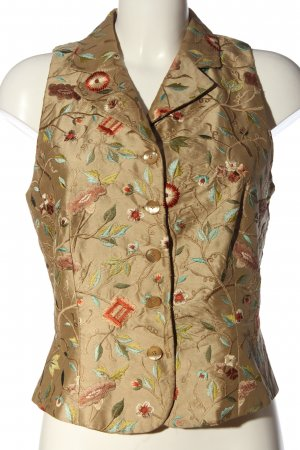 Benbarton Gilet tricoté vert motif de fleur style décontracté