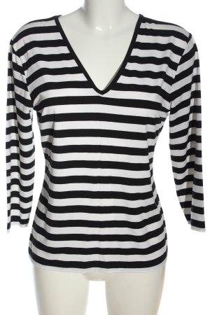 Benbarton Longsleeve black-white striped pattern casual look