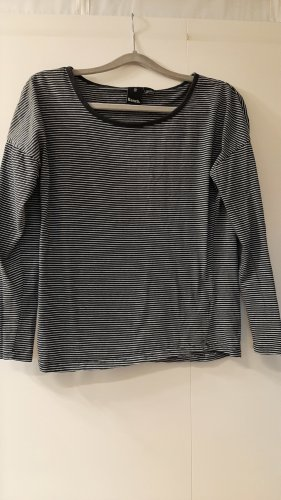 Bench Basic Langarm-Shirt gestreift schwarz weiß Gr. S
