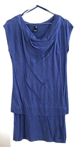 Bench. Blaues kurzes Jerseykleid, kurzarm, simple, mit integriertem ärmellosen Unterkleid, S