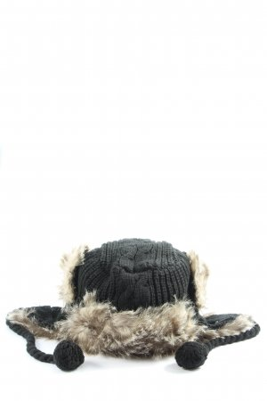 Bench Fur Hat black cable stitch casual look